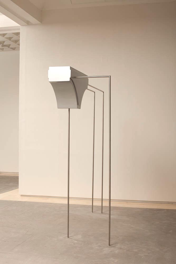 Reuven Israel, Gateway, 2010-2011, Painted MFD and stainless steel, 240 x 84 x 230 cm
