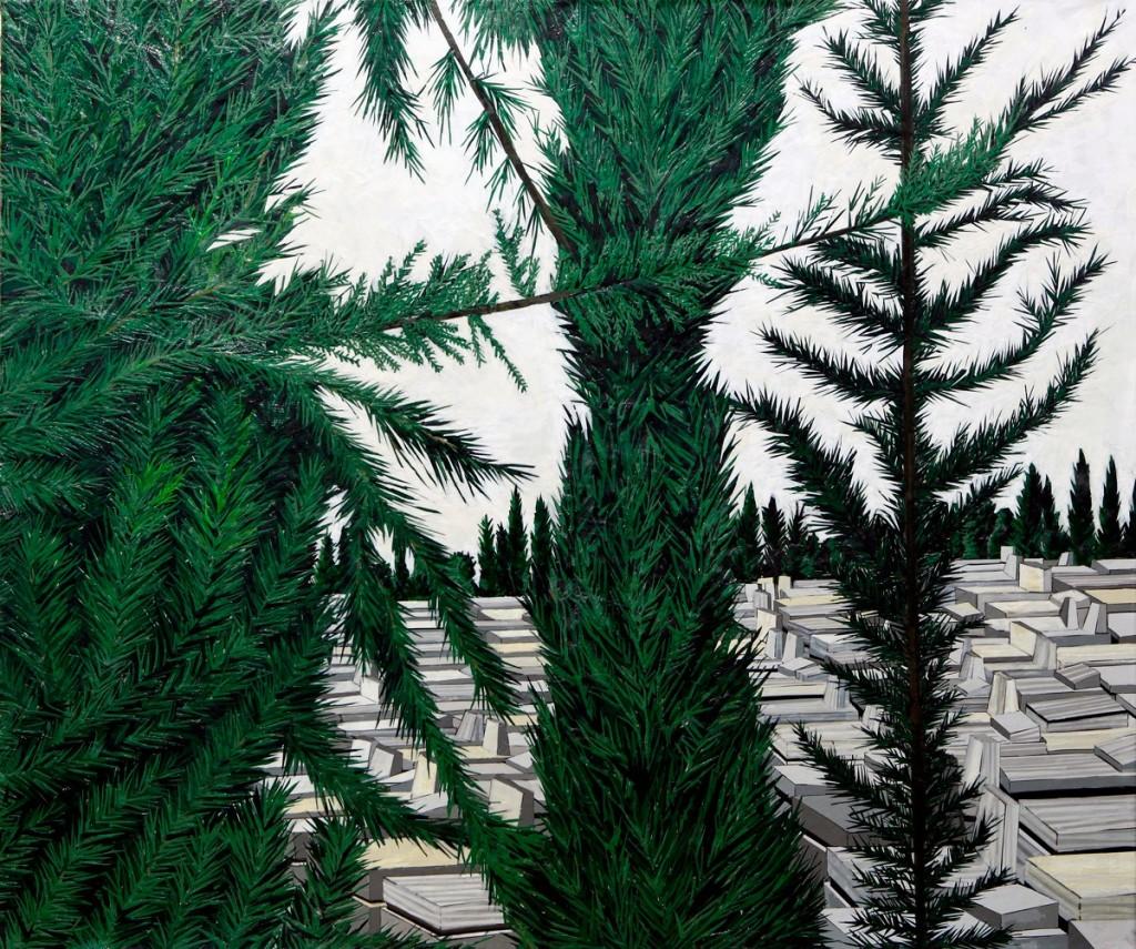 Cemetary Cypresses, 2011, 140cm X 120cm