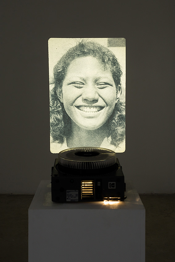 Figure, Installation view, 2014, 80 slides, Kodak carousel slide projector, variable dimensions