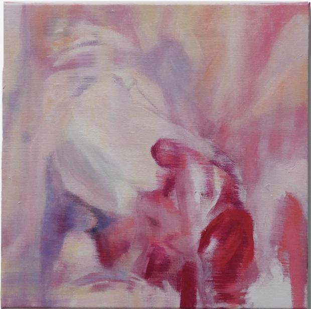 Bracha L. Ettinger, No Title Yet, n.2, 2018-2019, oil on canvas, 25 x 25 cm