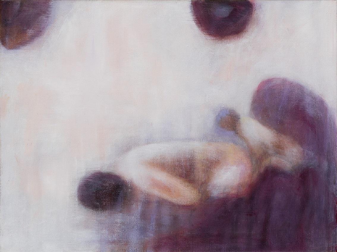 Bracha L. Ettinger, Rachel Pieta Medusa 2, 2015-2018, oil on canvas, 30 x 40 cm