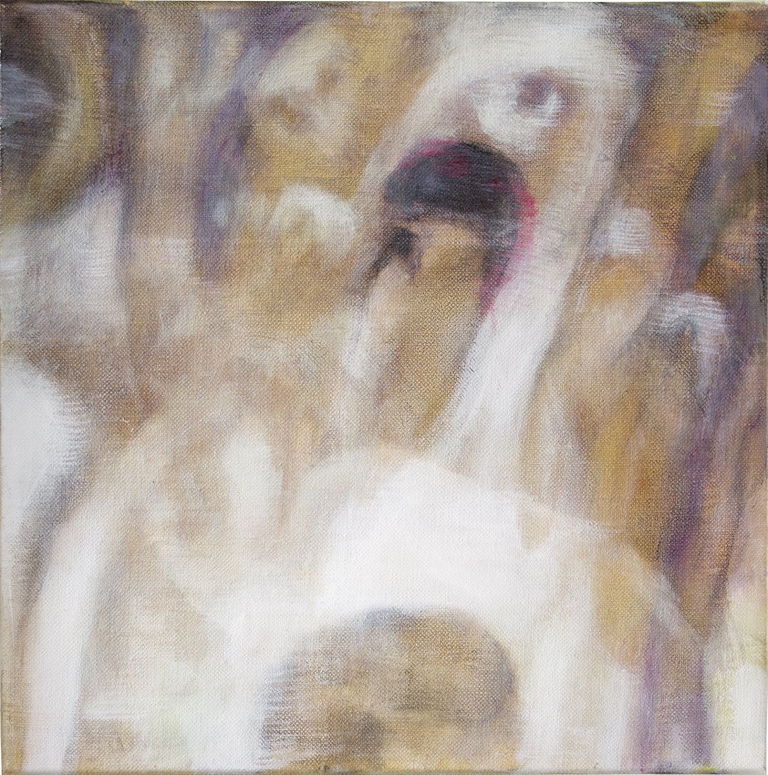 Bracha L. Ettinger, Mamalangue n.8, 2012-2016, oil on canvas, 20 x 20 cm