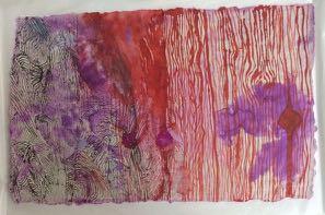 Bracha L. Ettinger, Lichtenberg Flower and Medusa n. 15, 2010 - 2012, India ink and wash on paper, 23 x 35.6 cm