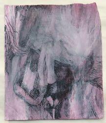 Bracha L. Ettinger, Chrysalis, no date, India ink, watercolor and felt pen on paper, 9.8 x 8.6 cm