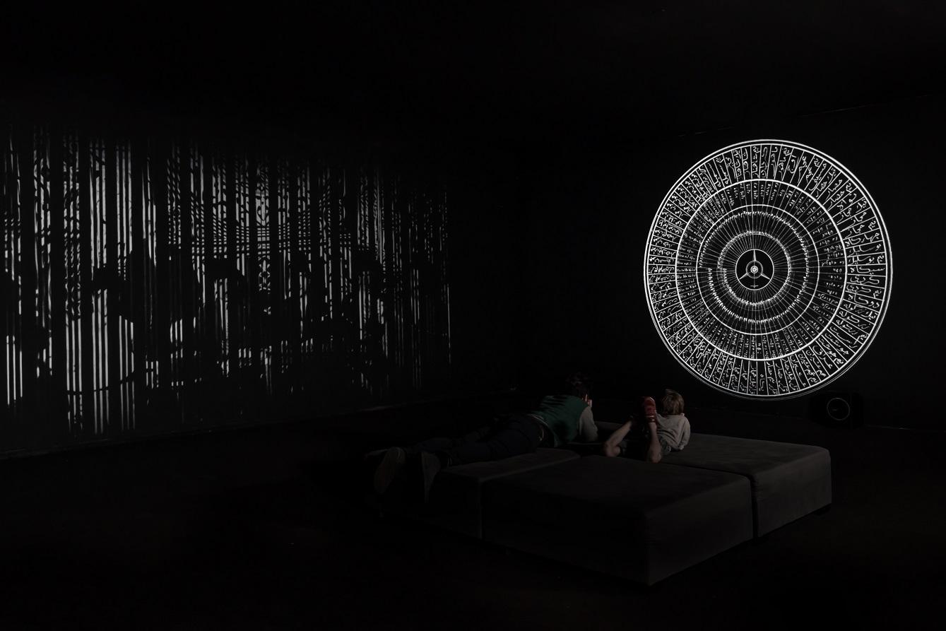 Dor Zlekha Levy and Aviad Zinemanas, Maqamat, 2017. Installation view, Tel Aviv Museum of Art