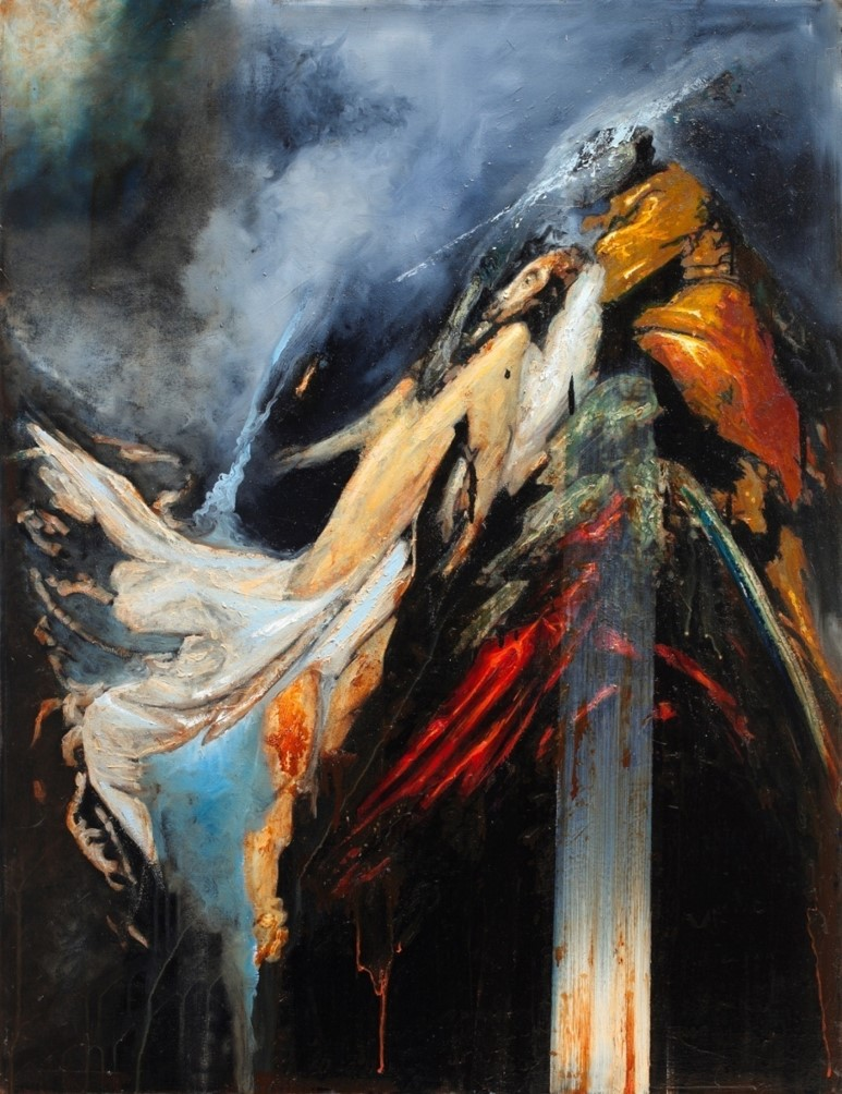 Oren Eliav, Deposition, 2012 Oil on canvas, 130 x 80 cm