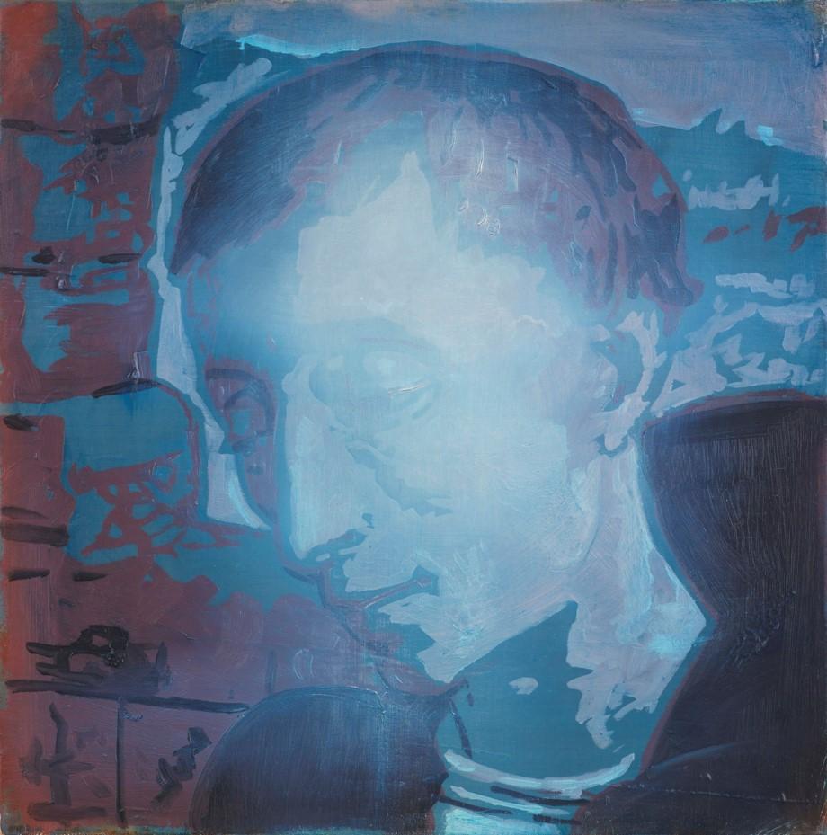 Oren Eliav, Listener, 2015, oil on canvas, 50x50 cm