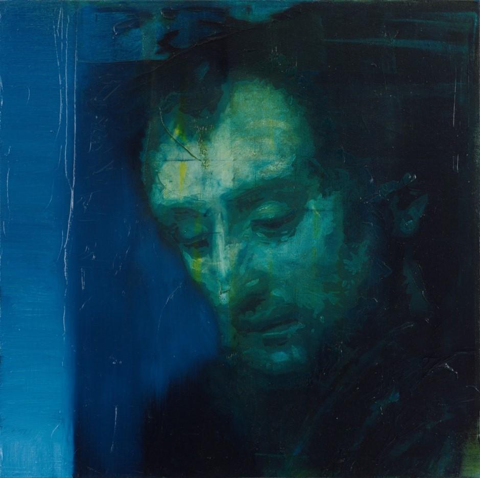 Oren Eliav, Listener, 2015, oil on canvas, 50 x 50 cm