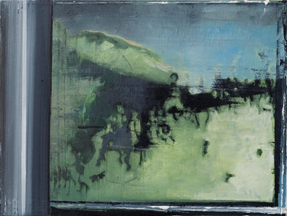 Oren Eliav, Procession, 2018, oil on canvas, 30 x 40 cm