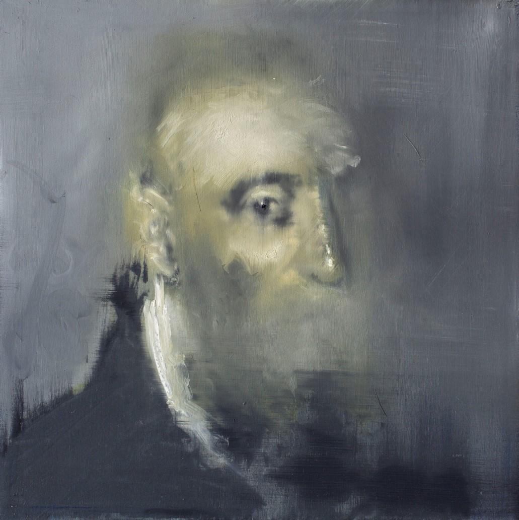 Oren Eliav, Listener, 2011, oil on canvas, 50 x 50 cm