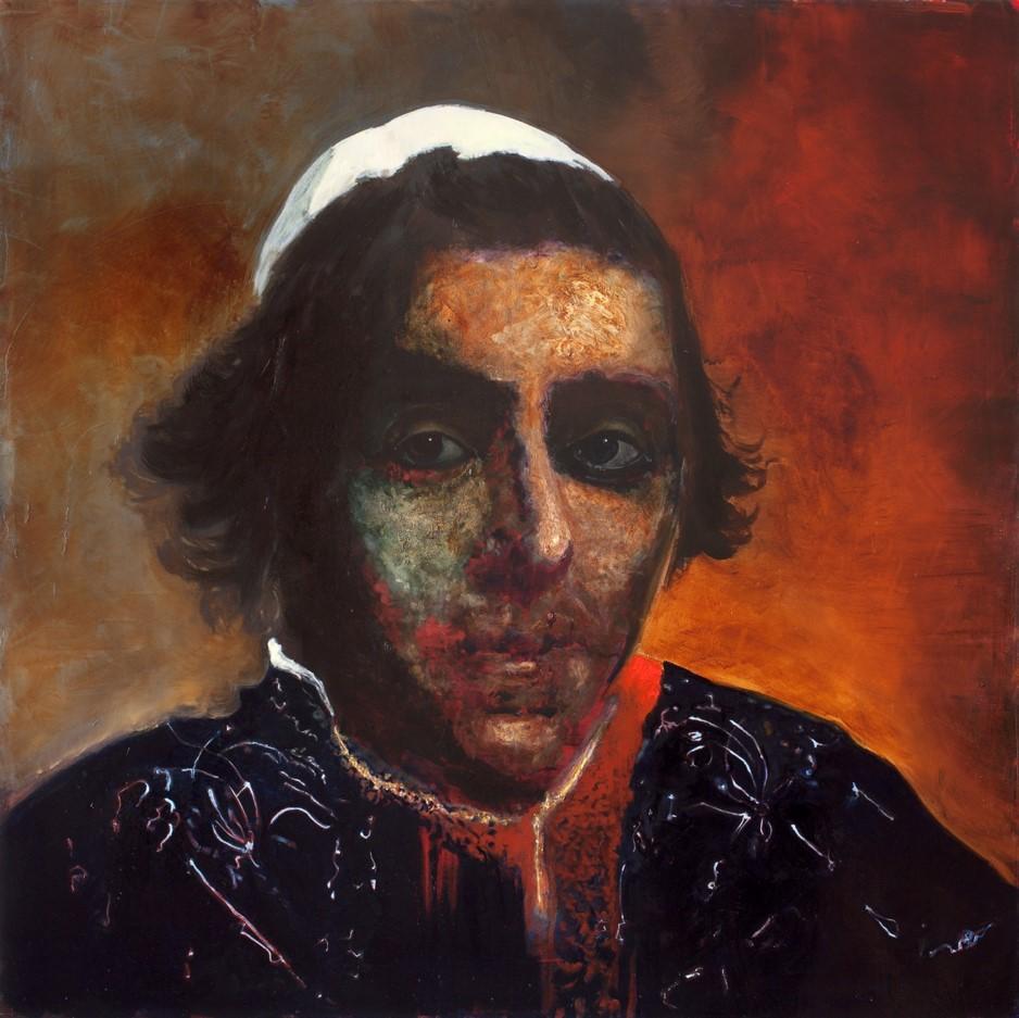 Oren Eliav, Listener, 2011, oil on canvas, 150 x 150 cm