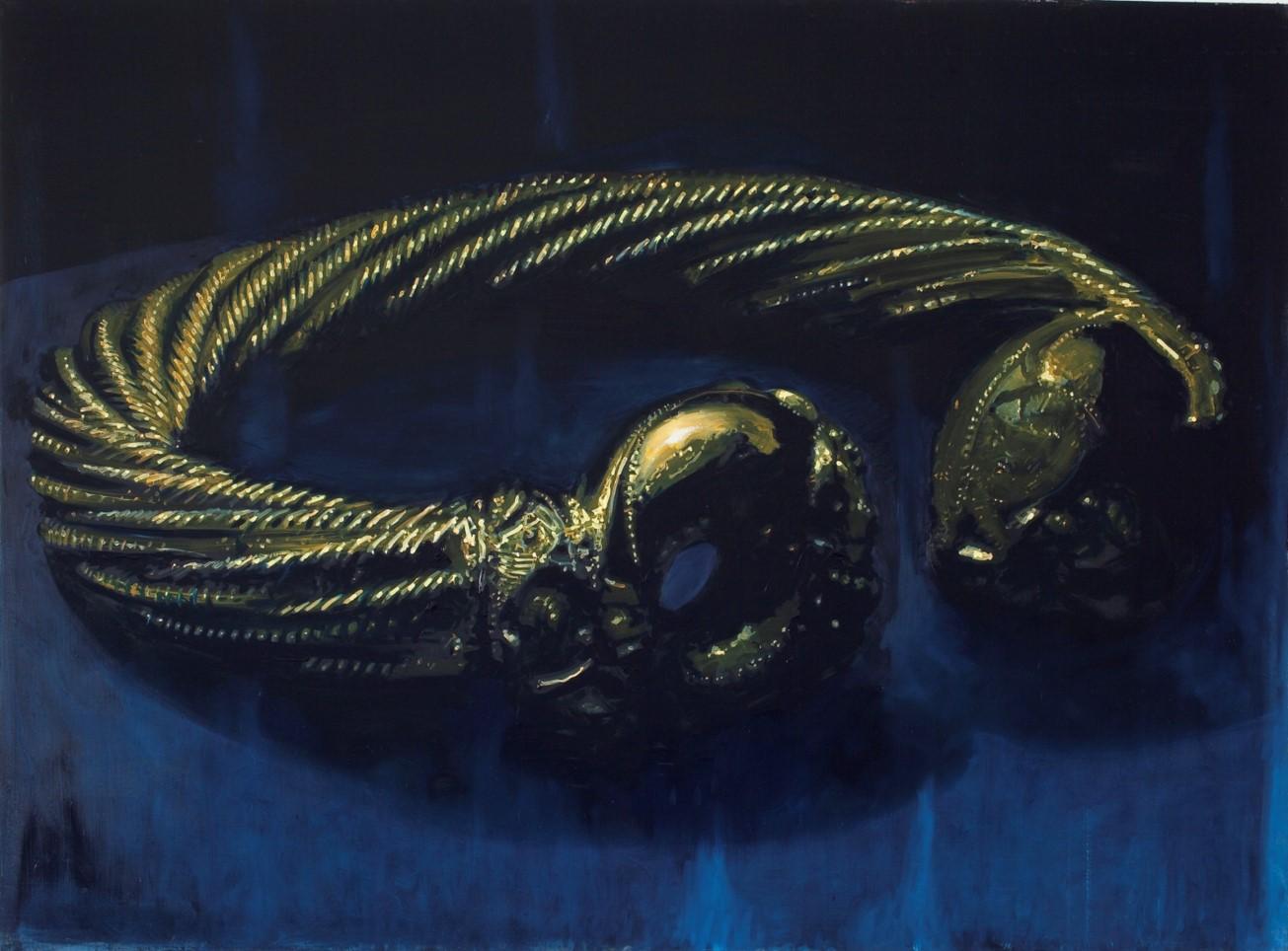 Oren Eliav, Torque, 2011,oil on canvas, diptych, 140 x 190 cm each