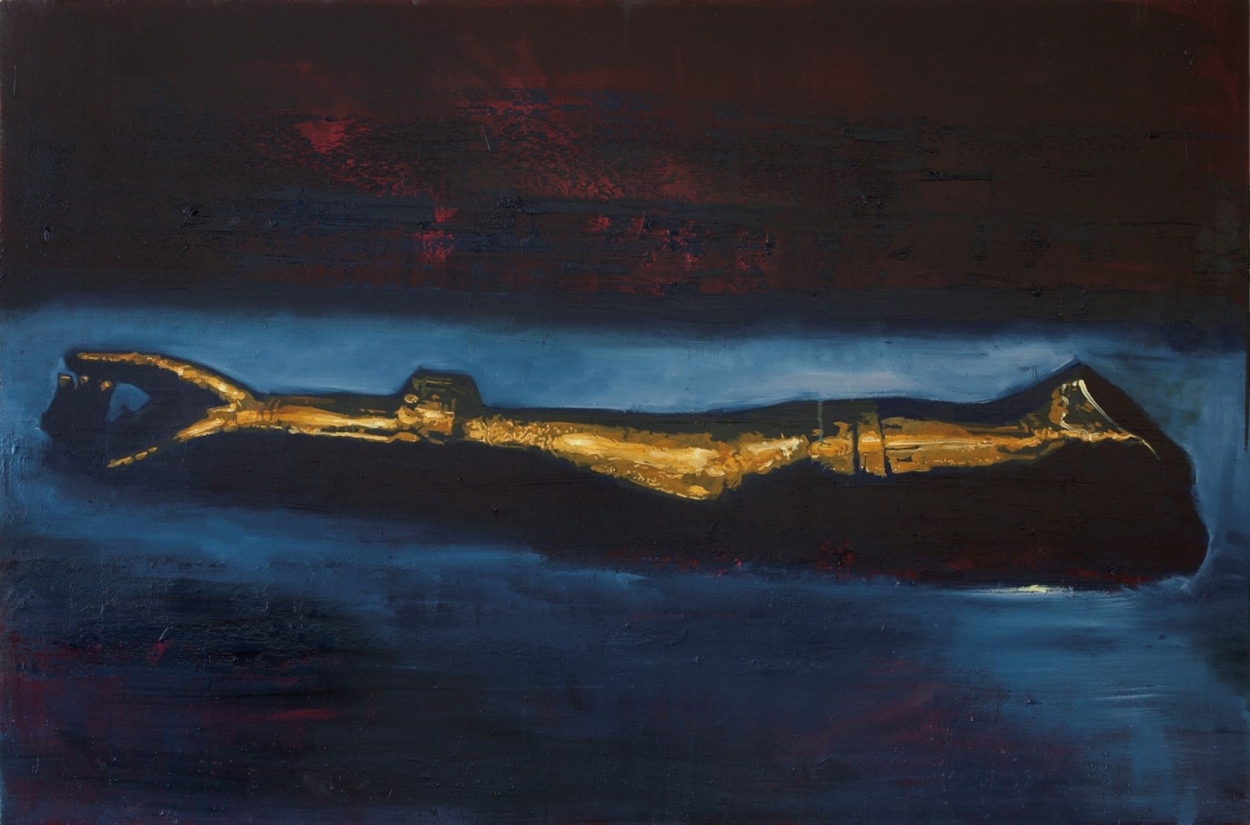 Oren Eliav, Arm, 2011, Oil on canvas, 100 x 150 cm