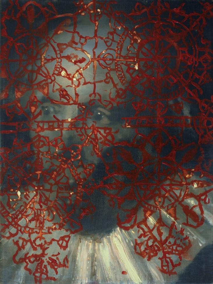 Oren Eliav, Listener, 2011, Oil on canvas, 40 x 30 cm