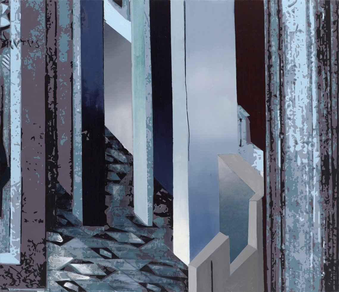 Oren Eliav, Departure, 2017, oil on canvas, 200 x 230 cm