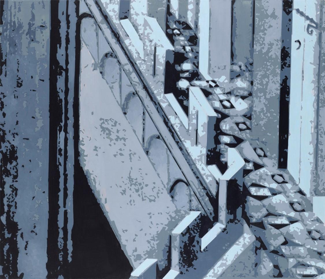 Oren ELiav, Turn, 2017, oil on canvas, 200 x 230 cm