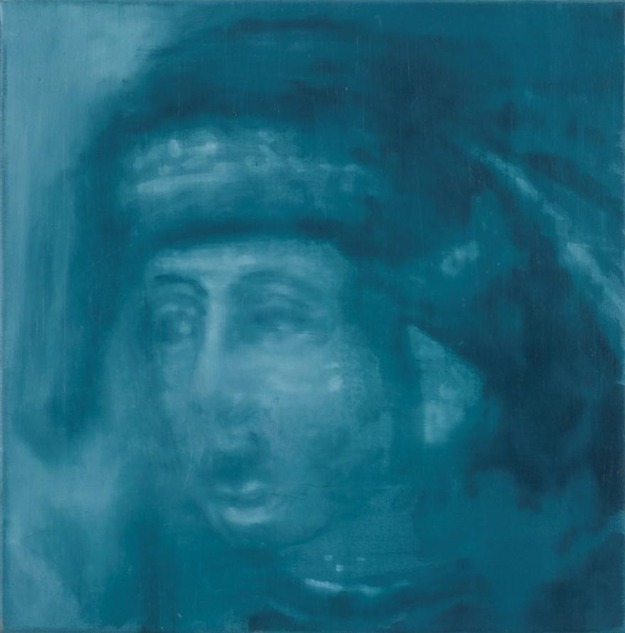 Oren Eliav, Listener (Lucretius), 2017, oil on canvas, 50 x 50 cm
