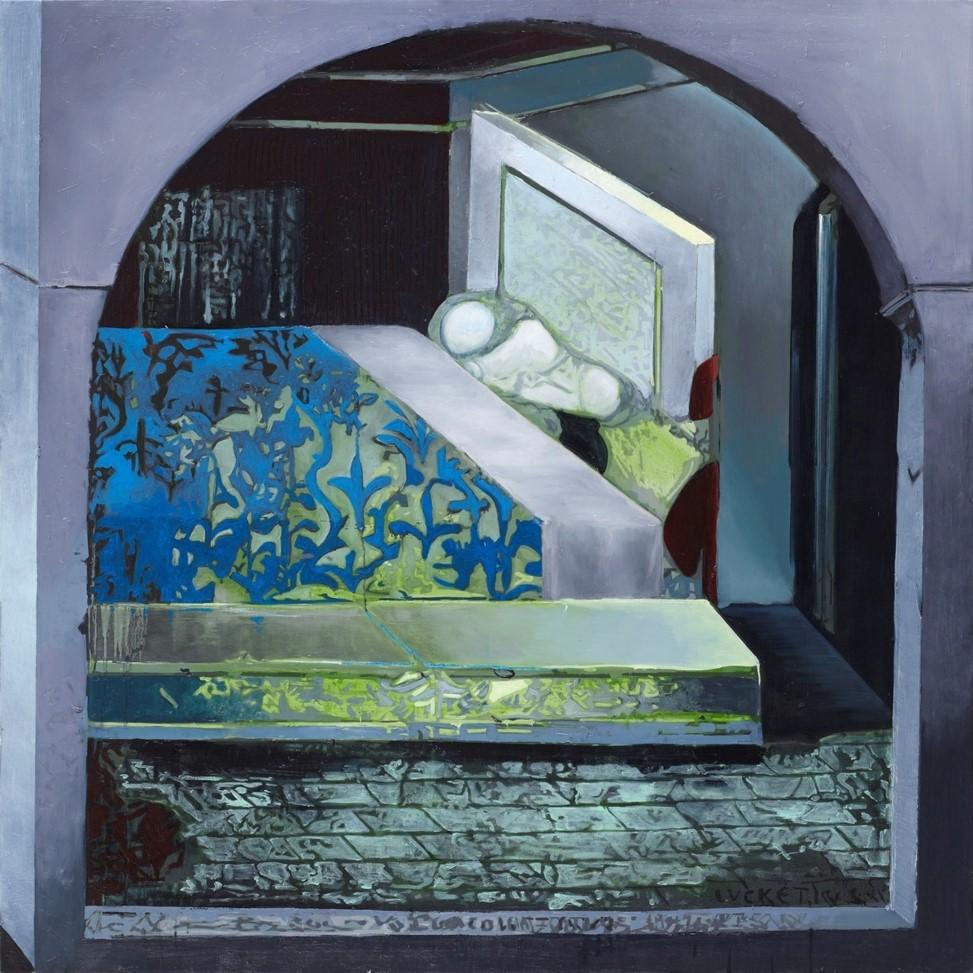 Oren Eliav, Room, 2017, oil on canvas, 160 x 160 cm