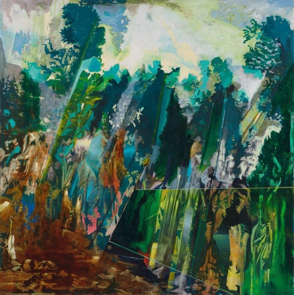 Oren Eliav, Procession, 2015, oil on canvas, 200 x 200 cm