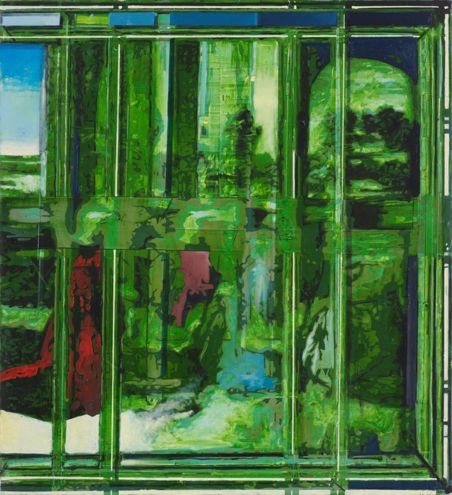 Oren Eliav, Infant, 2015, oil on canvas , 100 x 110
