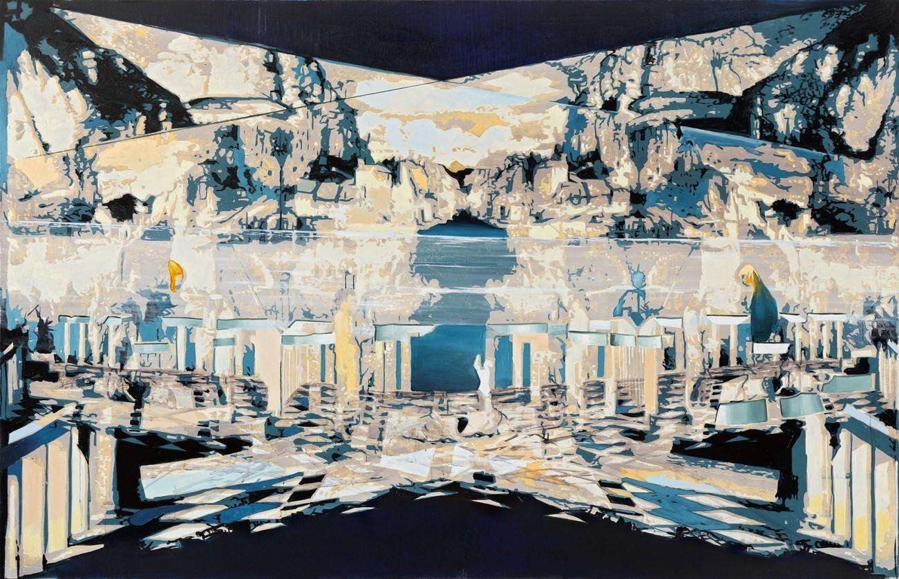 Oren Eliav, Transfiguration, 2014, oil on canvas, 175 x 270 cm