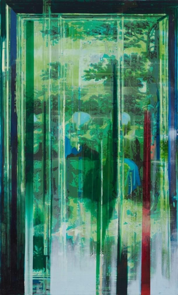 Oren Eliav, Flight into Egypt, 2015, oil on canvas, 200 x 120 cm