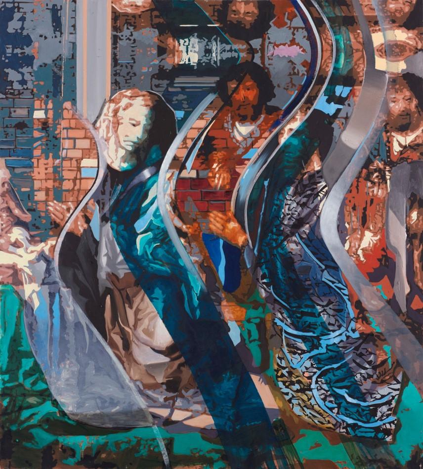 Oren Eliav, Infant, 2016, oil on canvas, 180 x 200 cm