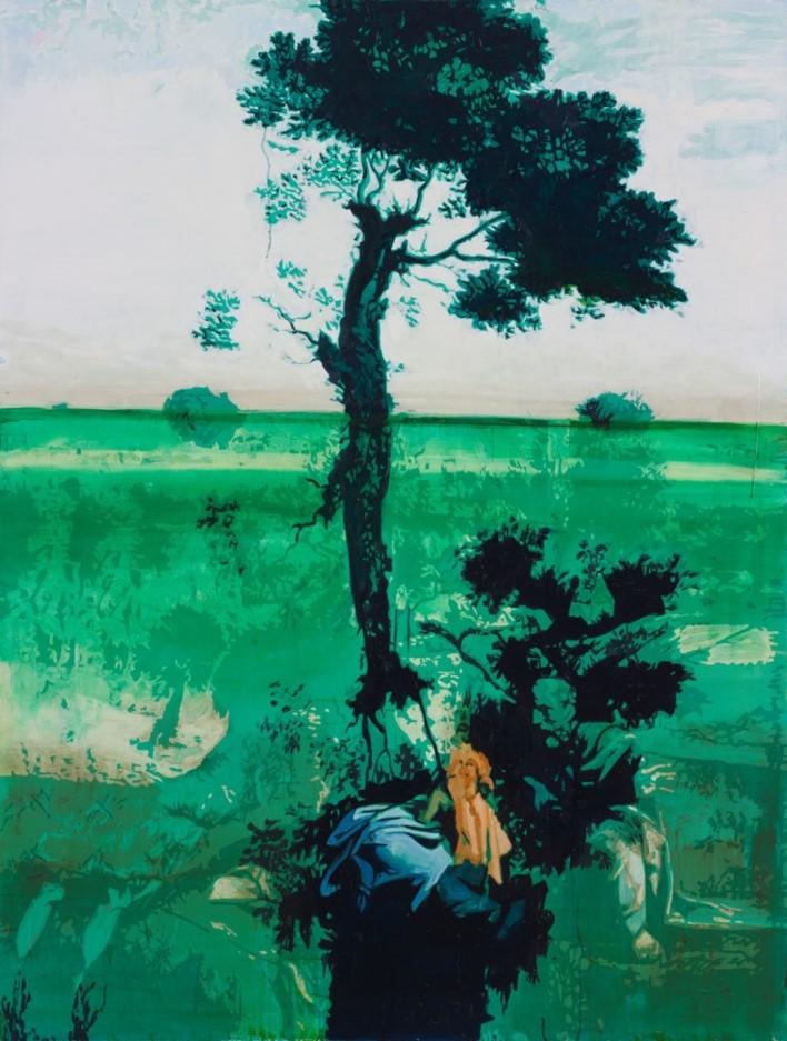 Oren Eliav, Rest on the flight into Egypt, 2015, oil on canvas, 200 x 150 cm