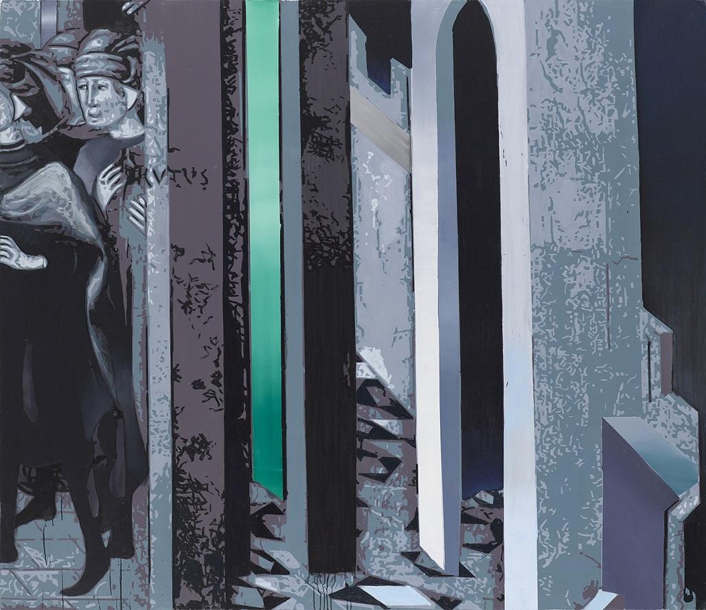 Oren Eliav, Arrival, 2017, oil on canvas, 200 x 230 cm