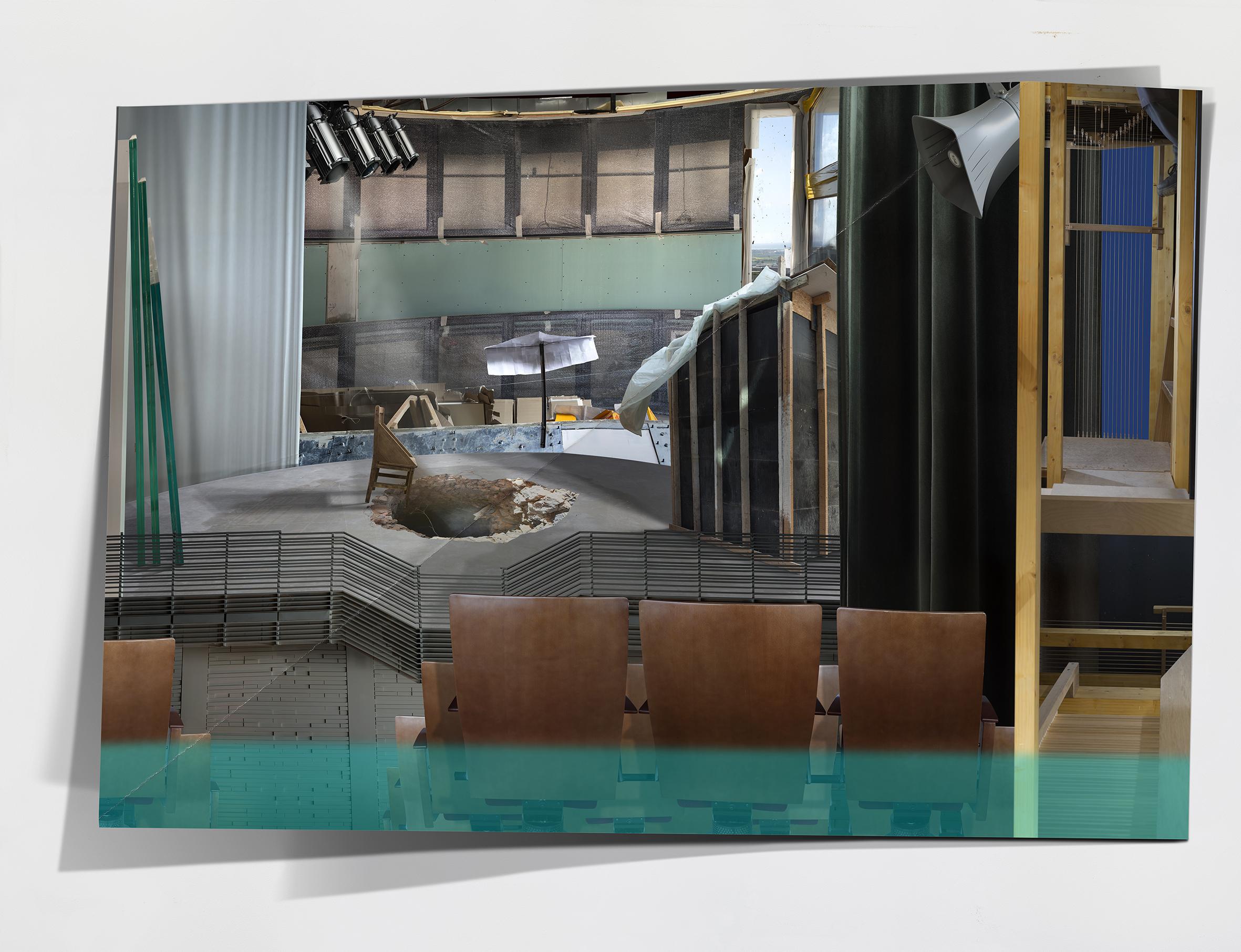 Ilit Azoulay, Wipe the Slate Clean, 2016, Inkjet print, 150x 195 cm