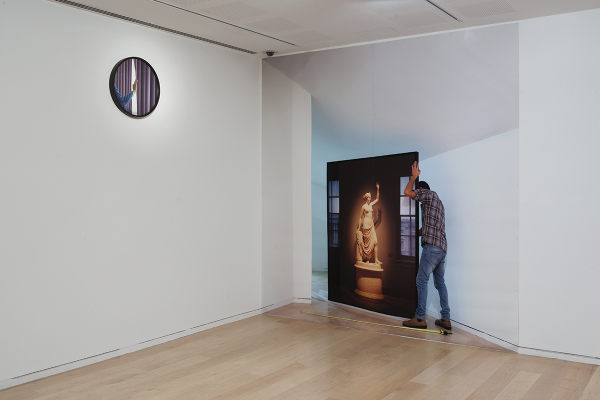 Mark Yashaev, Cast Shadow, 2016, Dimensions variable. Installation view, Tel Aviv Museum of Art