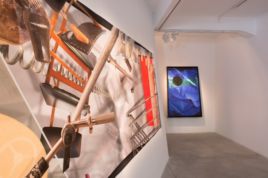 Ilit Azoulay, Panic in Lack of Event, installation view, Braverman Gallery, 2013