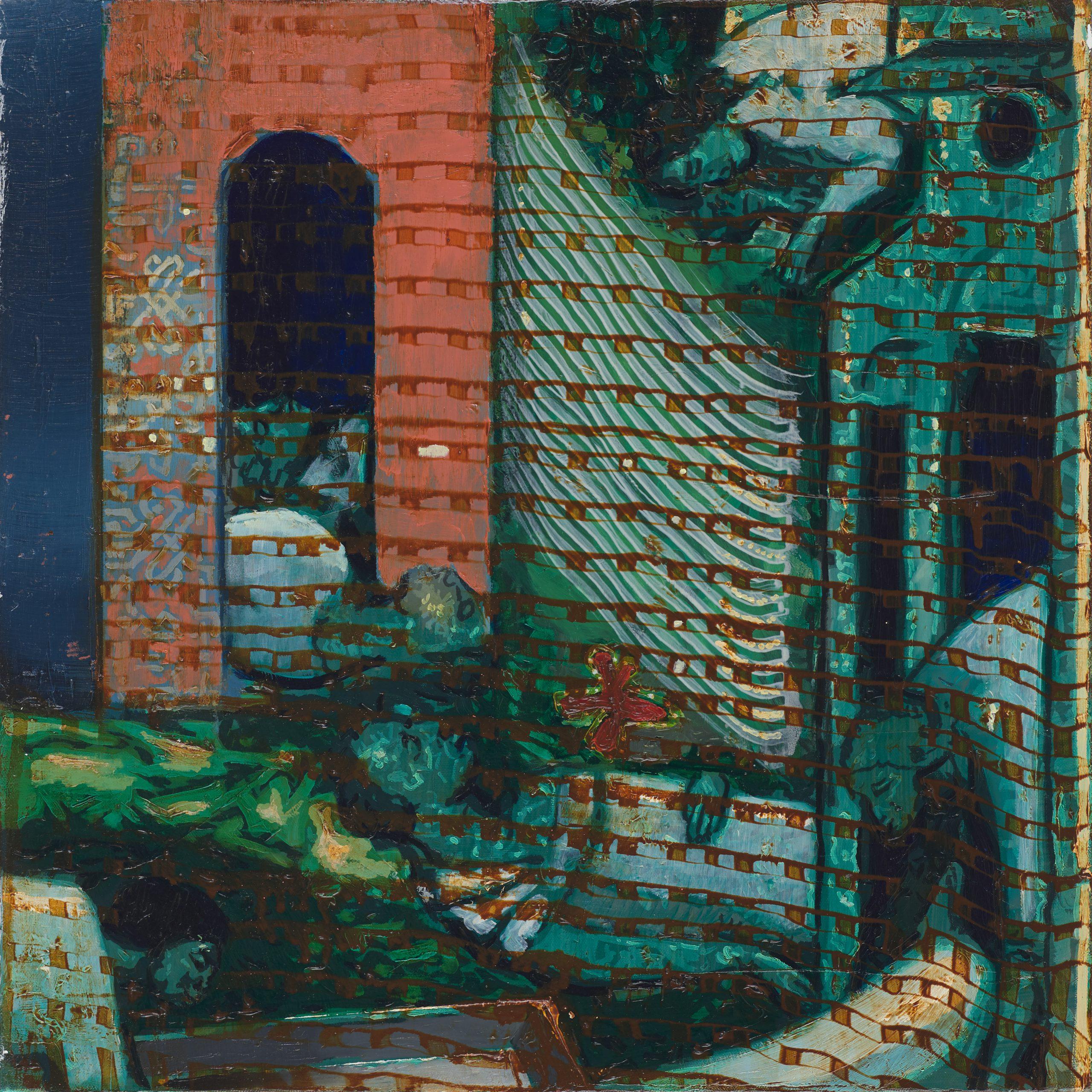 Oren Eliav, Elevation, 2019, oil on canvas, 50 x 50 cm