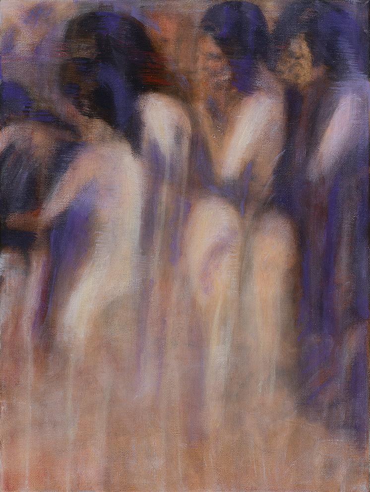 Bracha L. Ettinger, Rachel Pieta Medusa 1, 2015-2018, oil on canvas, 40 x 30 cm