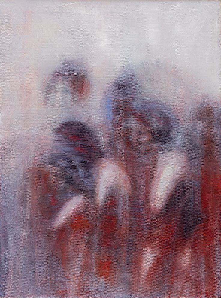 Bracha L. Ettinger, Rachel Pieta Medusa 3, 2015-2018, oil on canvas, 40 x 30 cm