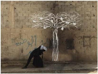 Robin Rhode, Tree of Life , detail (part 3)