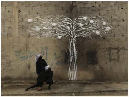 Robin Rhode, Tree of Life , detail (part 5)