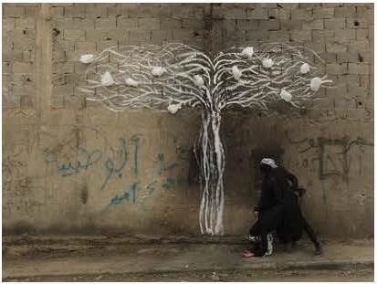 Robin Rhode, Tree of Life , detail (part 6)