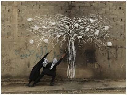 Robin Rhode, Tree of Life , detail (part 7)
