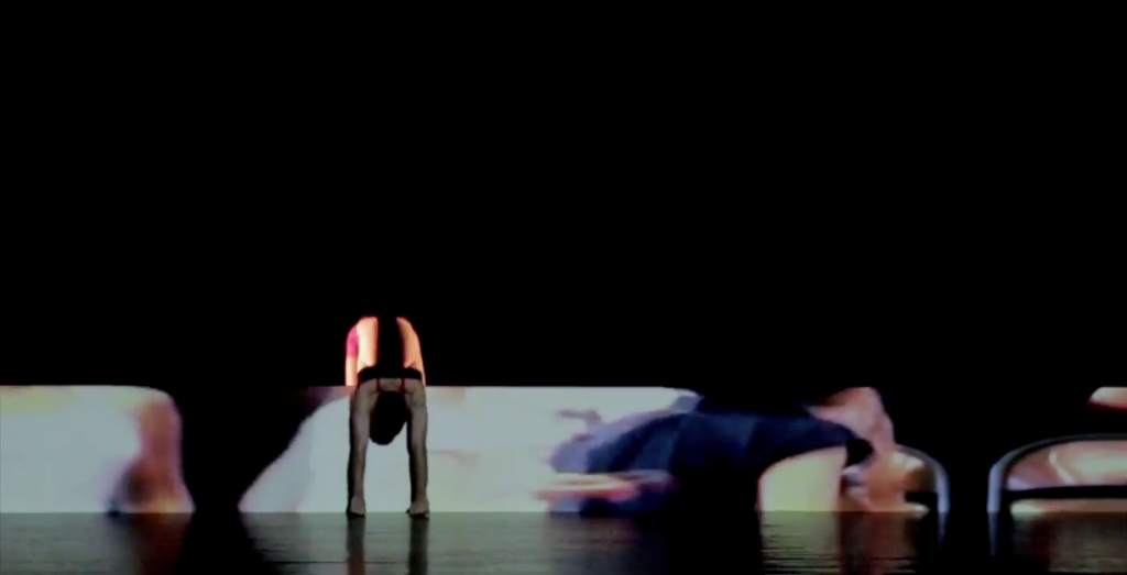 Roy Efrat, Five Homes, 2014, Performance with a single channel video, 145 x 70 cm, 06:30 min, Japan Week, Suzzane Dellal Center, Tel Aviv