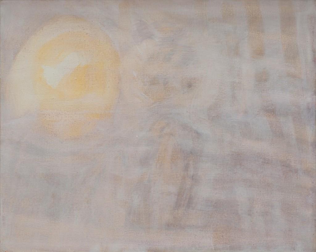 Bracha L. Ettinger, Medusa and Owl, 2012, oil on canvas, 20 x 30 cm