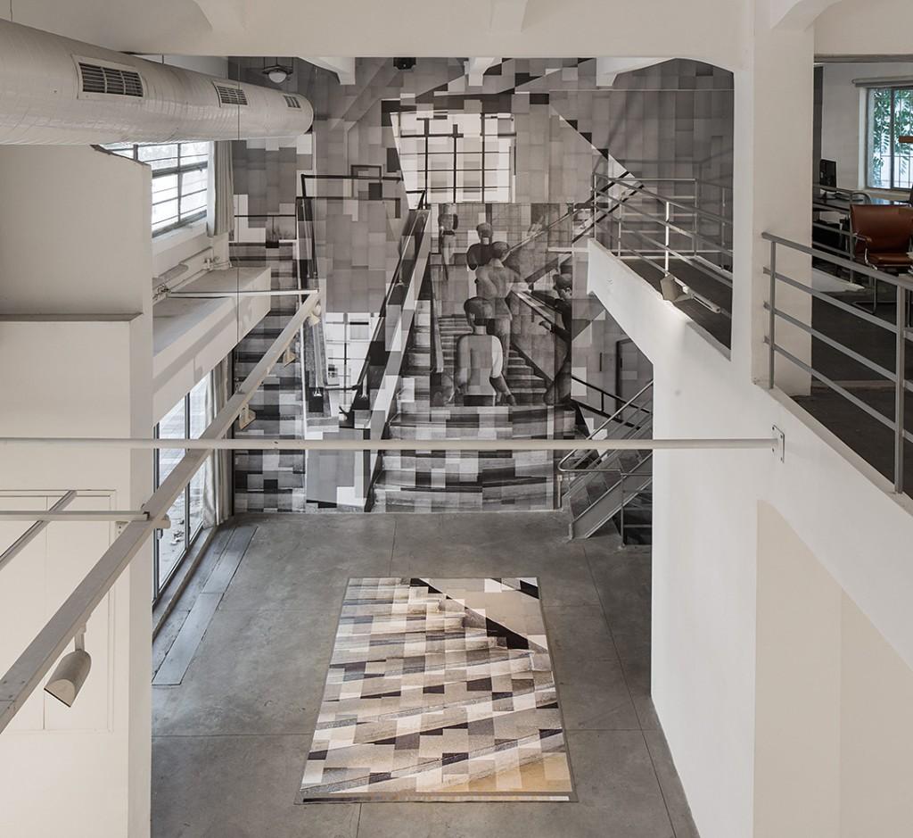 Katharina Gaenssler - Bauhaus Staircase - Dessau New York Tel-Aviv, installation view, Braverman Gallery, 2016