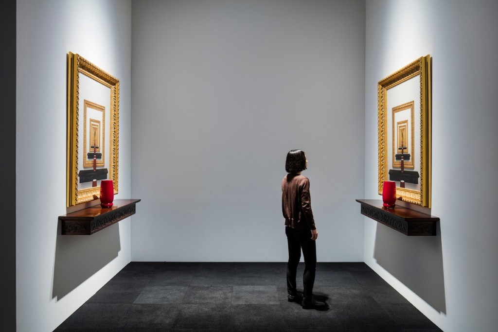 Leandro Erlich, Cadres Dorés, 2007, Installation view, Mori Art Museum, Tokyo, Japan, 2017