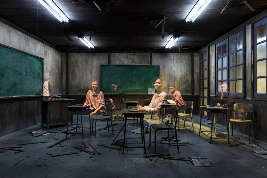 Leandro Erlich, Classroom, 2017, Installation view, Mori Art Museum, Tokyo, Japan, 2017