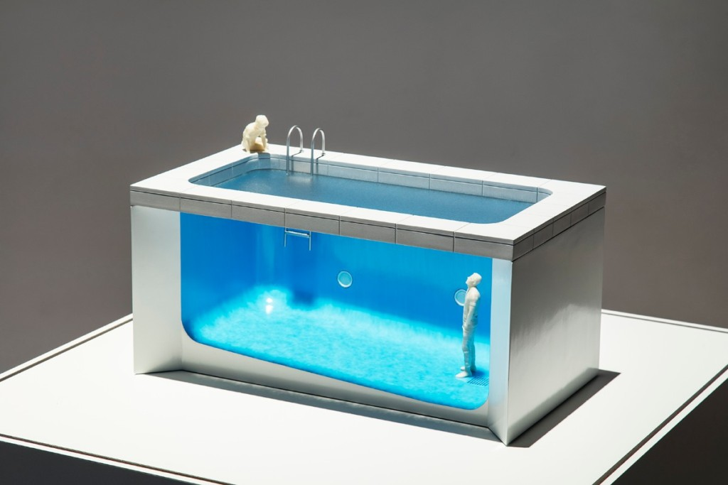 Leandro Erlich, Swimming Pool – Models, 1999, Installation view, Mori Art Museum, Tokyo, Japan, 2017