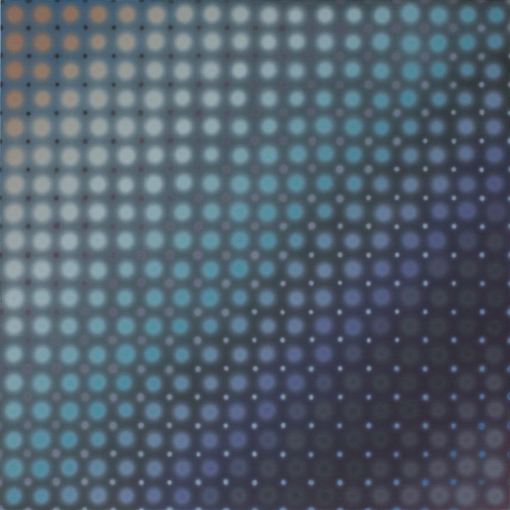 Li Shurui, Night Swim No.5, 2018, acrylic on canvas on board, 90 x 90cm
