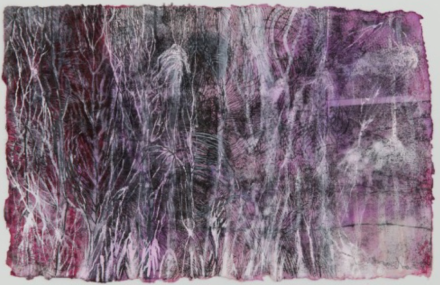 Bracha L. Ettinger, Lichtenburg Flower & Medusa, 2010-2012, wash and xerography on paper, 23.5x35.6 cm