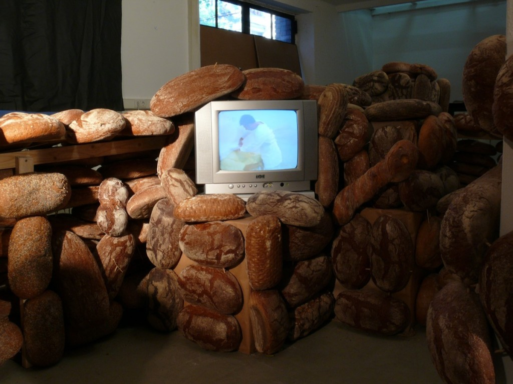 Shahar Marcus, Bread and Bunker, 2008, Installation view, GDK Gallery Berlin