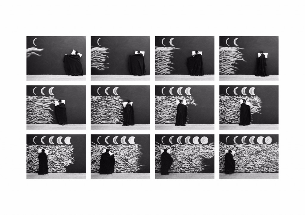 Robin Rhode, The Moon is Asleep, 2015, Mounted c-print