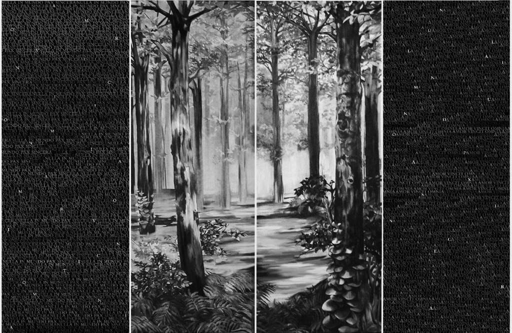 Biljana Djurdjevic, Dark Is The Forest (Closed Polyptych), 2010 - 2012, 255 x 905 cm